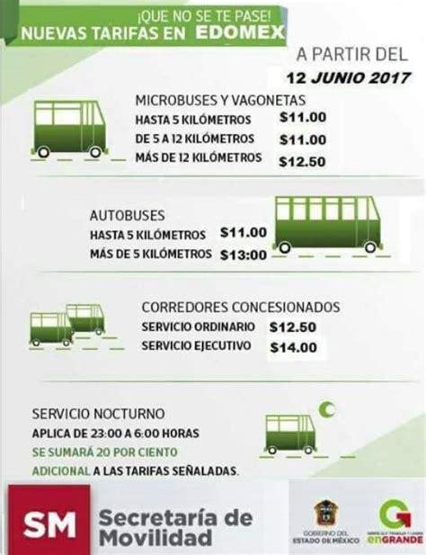 tarifas de verificacion estado de mexico tarifa verificacion estado de mexico 2016 sube el pasaje