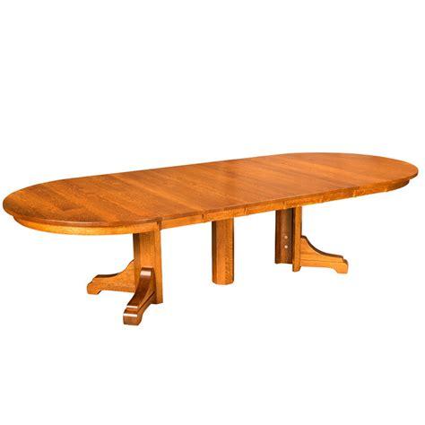 amish split pedestal table amish dining tables amish furniture shipshewana