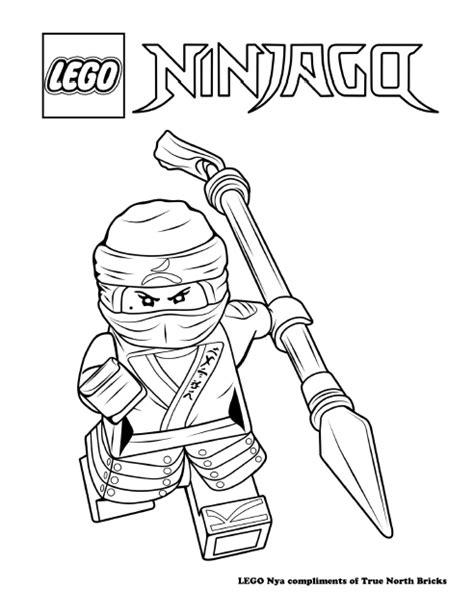 coloring pages lego ninjago movie lego colouring page ninja nya true north bricks