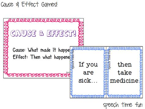 cause and effect printable card games reading comprehension stories cause effect games
