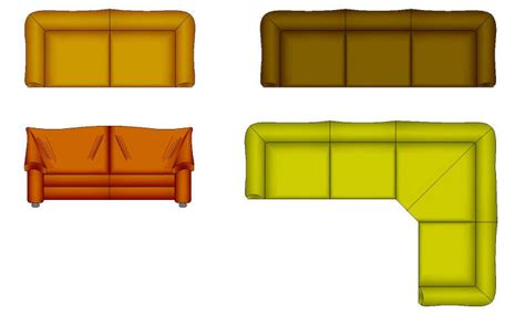 sofa plan couch cad drawing drawing pinterest