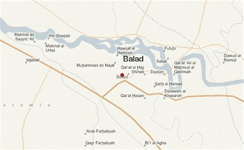 balad iraq map balad location guide