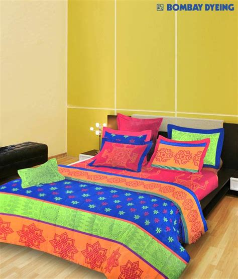 bombay dyeing bed sheets bombay dyeing colourful cotton bed sheet buy bombay