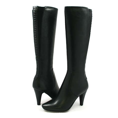 solemani s paradise black leather boots narrow calf