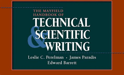 the handbook of technical writing the mayfield handbook of technical and scientific writing