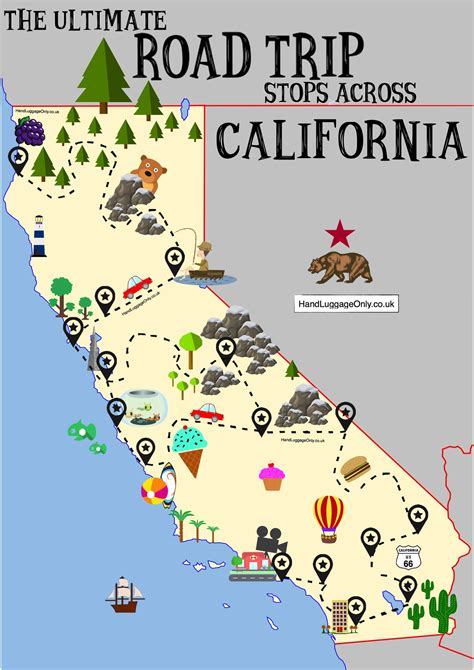 During My Recent Trip To California I Did Somethi by The Ultimate Road Trip Map Of Places To See In California