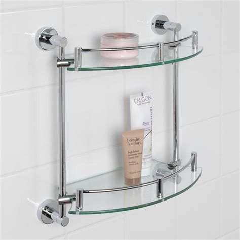 glass bathroom stand bristow tempered glass shelf two shelf bathroom