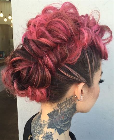 braided mohawk updo updo dutch and braided mohawk on pinterest