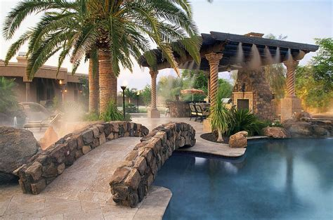 Mediterranean Home Builders 25 fascinating pool bridge ideas that leave you enthralled