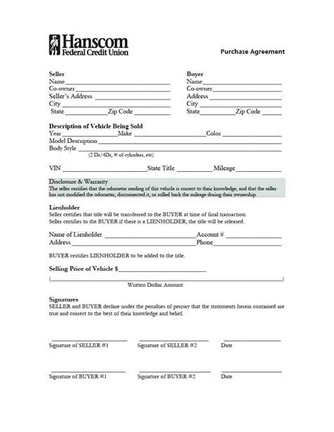 Template Lease To Own Agreement Template Truck Lease Purchase Agreement Template