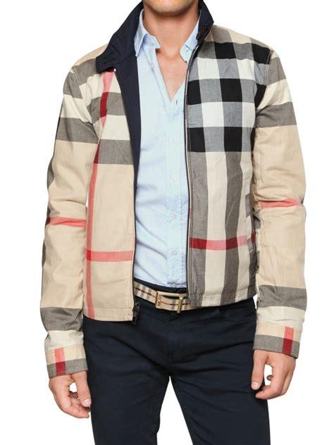 Kent Jaket Bomber Two Zipper lyst burberry brit reversible cotton sport