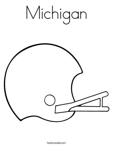 michigan football coloring page michigan football coloring page