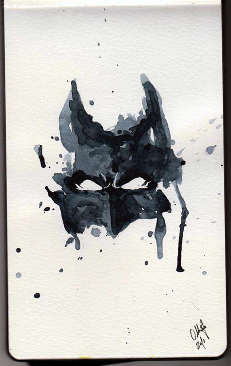 batman tattoo mask watercolor batman batman watercolor by tyleen on