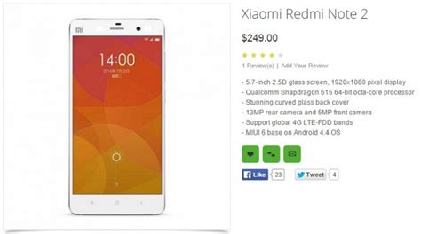 Hp Xiaomi Mi Redmi Note 2 s 237 el xiaomi redmi note 2 cuenta con un slot para tarjetas microsd gizchina es gizchina es