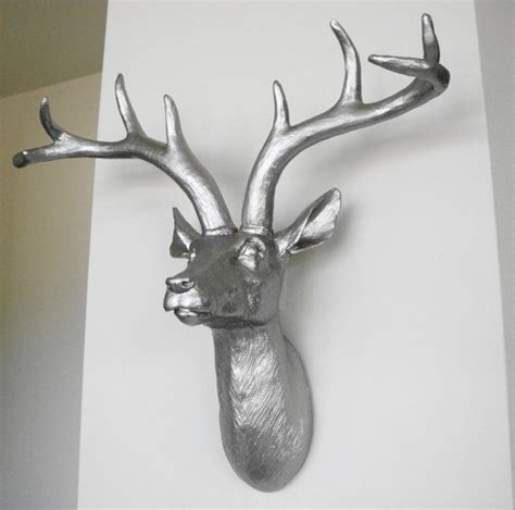 stag head home decor platinum deer head faux taxidermy stag head deer wall