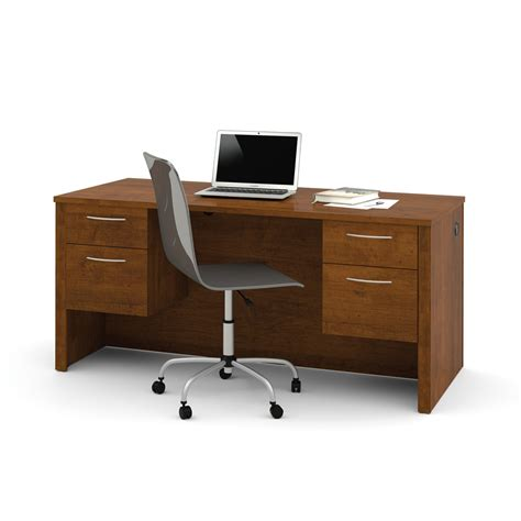 half office desk embassy executive desk with dual half peds in tuscany brown