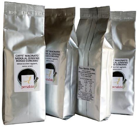 Ginseng Per Kilo caff 232 al ginseng rosso coreano puro macinato 1kg caff 232 caff 232 infusi e bevande enogastronomia