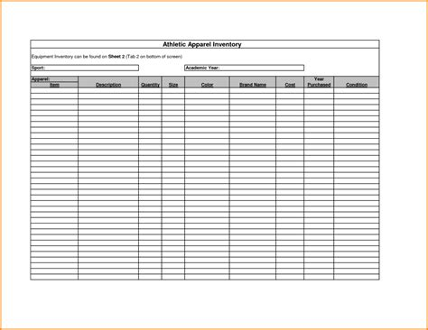 printable excel templates free printable inventory sheets inventory spreadsheet