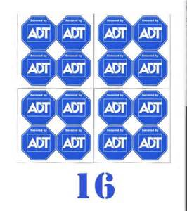 adt home security 8 adt home alarm security system sticker decals 4 adhesive