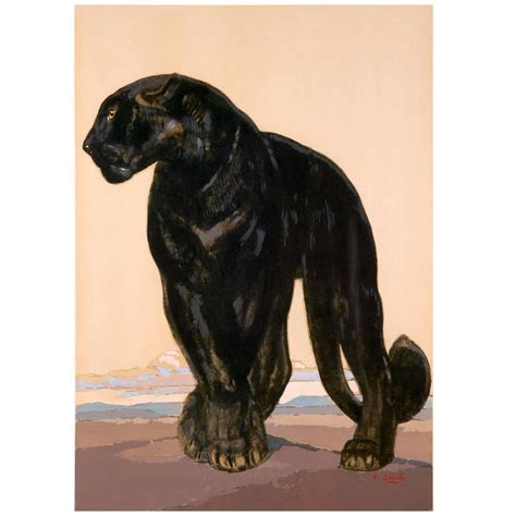 black standing l black panther standing by paul jouve at 1stdibs