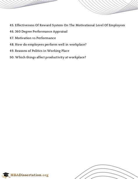 Mba Information Systems Project Topics by Mba Hr Project Topics
