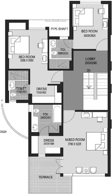 escape floor plan 3007 sq ft 4 bhk 4t apartment for sale in unitech escape sector 50 gurgaon