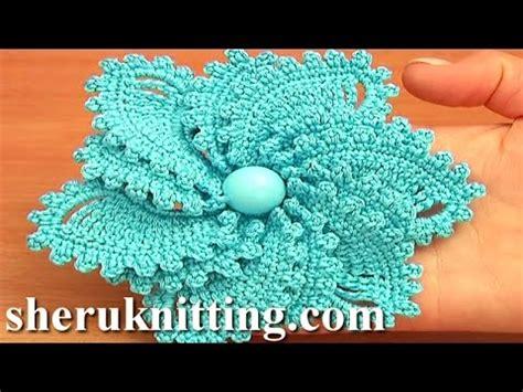 crocheted corkscrew tutorial youtube 12 petal crocheted spiral flower tutorial 69 flower to