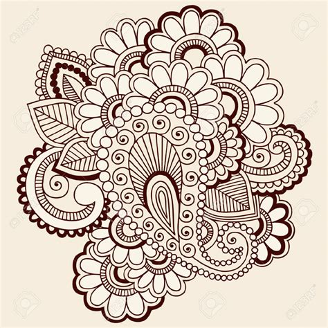 henna tattoos to draw drawing flower doodles intricate abstract