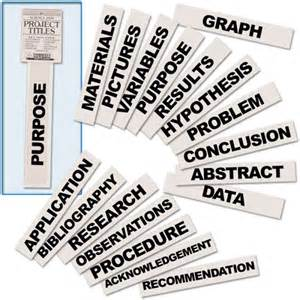 science fair labels templates science fair display boards