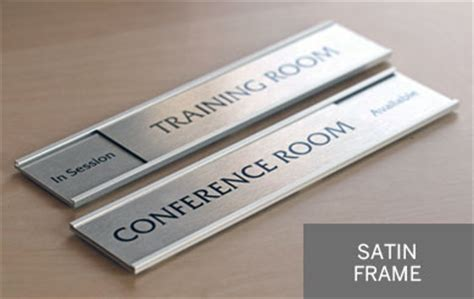 silver office signs corporate sliding door signs