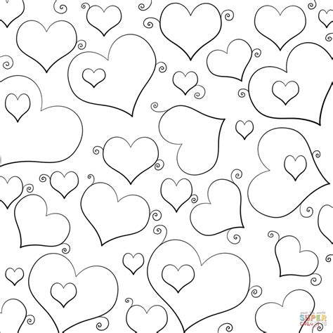 coloring pages of lots of flowers download heart coloring pages 7 heart flower printable