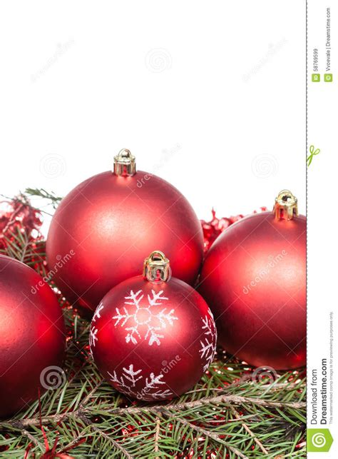 green tree with white decorations decorations on green tree branch stock photo