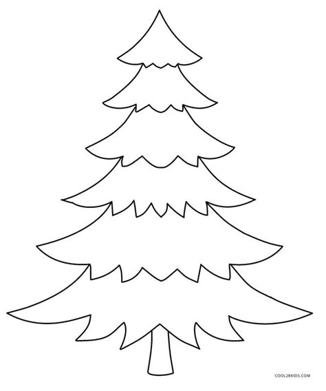 printable christmas tree coloring pages  kids coolbkids