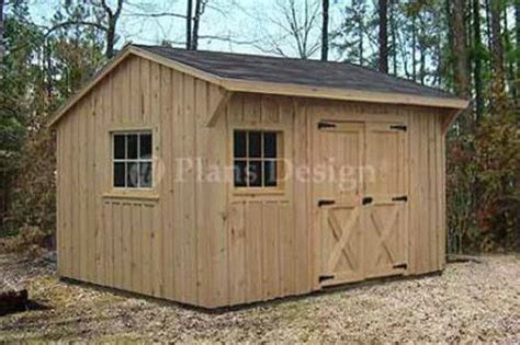 utility garden saltbox style shed plans