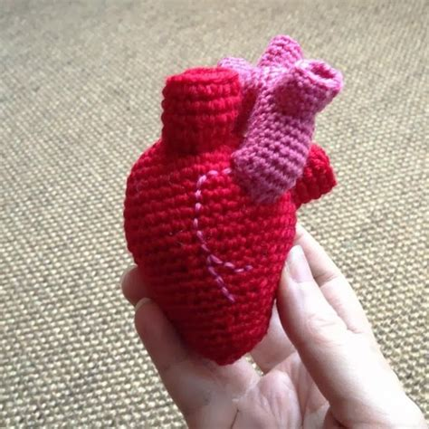 crochet pattern anatomical heart crochet heart pattern amigurumis cuties inspiration