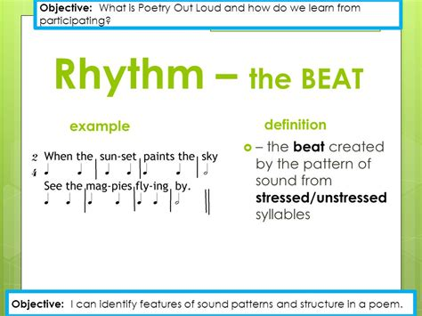 pattern rhythm definition alliteration exle definition ppt video online download