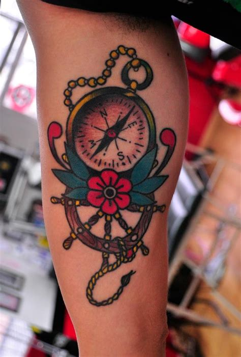 compass tattoo new school old school compass tattoo looking for my way on the world