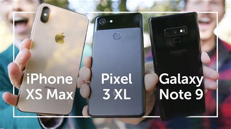 pixel 3 xl vs iphone xs max vs note 9 shootout
