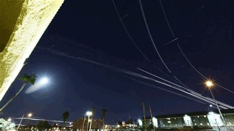 flight pattern gif airplanes look like swarming fireflies in these