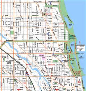 Map Of Chicago Il by Gallery For Gt Chicago Il Map