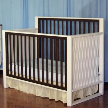 Modern Convertible Crib Baby Moderno 4 In 1 Convertible Crib In Espresso And White Free Shipping
