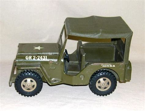 tonka army jeep 1960 s tonka military jeep w canopy top