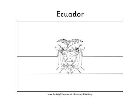 ecuador colouring flag
