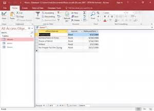 access 2016 create a query