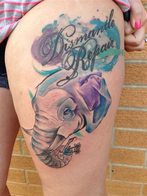 watercolor tattoo knoxville watercolor elephant a collection of tattoos ideas