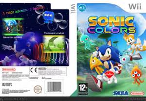sonic colors wii sonic colors wii box cover by crocstar764
