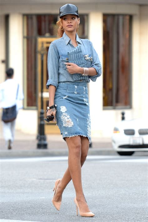 Hq 10334 Denim Skirt With 1 how to wear denim on denim and jean ideas