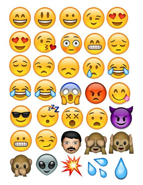 printable iphone emojis cute emojis to print pictures to pin on pinterest pinsdaddy