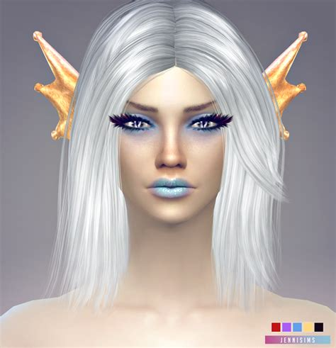 Ts Nosebleed White jennisims downloads sims 4 accessory mermaid ears sims 4 updates sims 4
