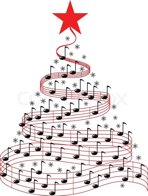 christmas music tree stock vector colourbox